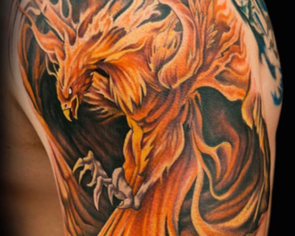 tatuajes-de-ave-fenix-estilo-ilustracion
