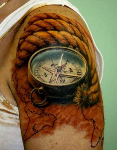 tatuajes-de-brújulas