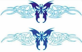 tatuajes en color azul