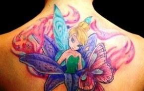 Tatuajes del hada Campanilla o Tinker Bell