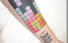 Tatuajes de videojuegos: Tetris