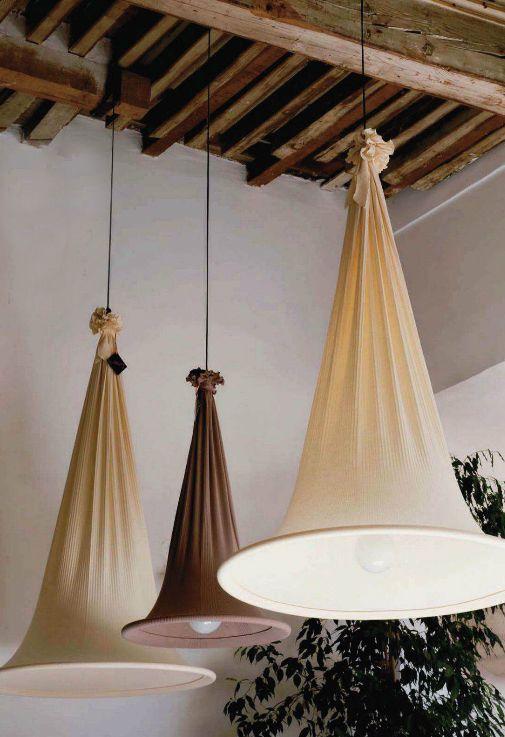 tipos de lamparas de tela