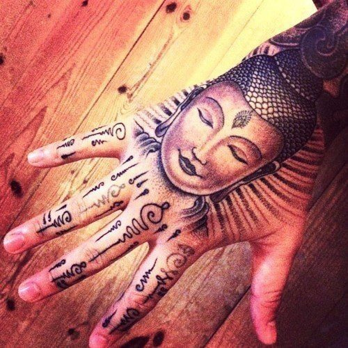 Tatuajes de buda mano
