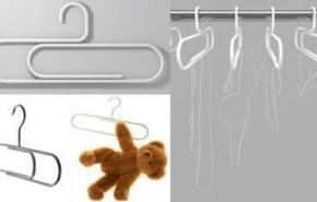 Perchas clip para tu armario